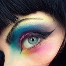Color Burst And Winged Liner