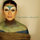 Fantasy blue and green make-up
