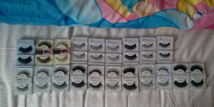 All lashes by Red Cherry, Creme, Kara and Amazing Shine Eyelash.  Can't wait to use these!   Bought these from www.ikatehouse.com