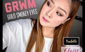 GRWM: GOLD SMOKEY EYES MAKEUP TUTORIAL | CLAIRE LINGAN (PHILIPPINES)
