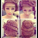 BRAIDED HAT FROM THE BRAIDED HAIR :p