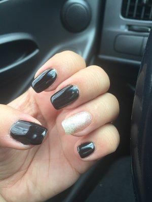 #nails #simplenails #black #gel