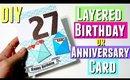 DIY Layered Birthday Card for HIM Pinterest Inspired, DIY Birthday Card using Silhouette