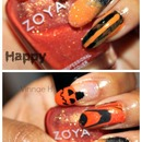 Happy Halloween! Busy Girl Nails Fall Nail Art Challenge - Orange