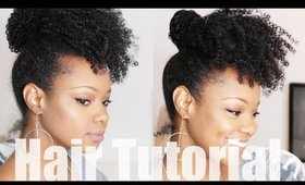 CROCHET BRAID (no braid) Curly Updo Natural Hair Tutorial | Fine Thin Natural Hair | BorderHammer