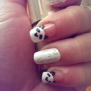 Velvet Panda Nail Art with Konad Bamboo Stamp