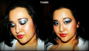 Inspired by Beyonce's Green Light music video, I decided to try out her dramatic on stage performing makeup look.