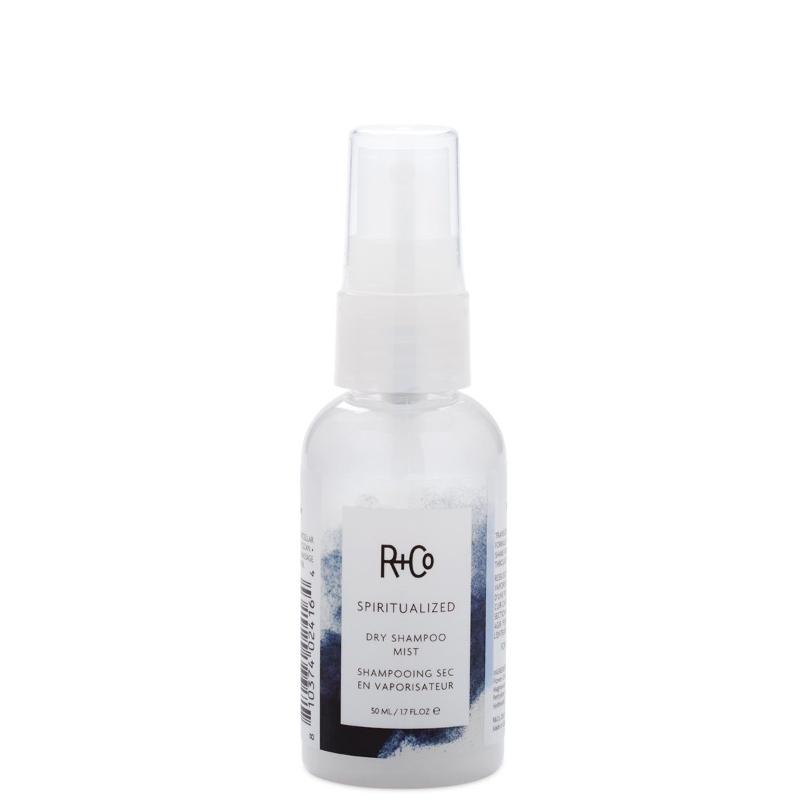 R+Co Spiritualized Dry Shampoo Mist 1.7 fl oz product smear.