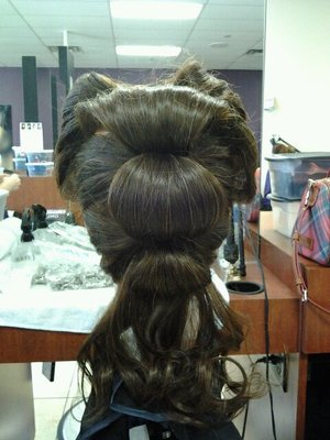 Back of Victory Roll Updo