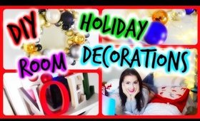 ♥ DIY Holiday Room Decorations + Cute & Easy Decor Ideas ♥