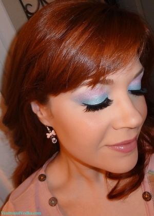A Cotton Candy inspired makeup look :-)  For more info, please visit: http://www.vanityandvodka.com/2013/01/cotton-candy.html  Hope you have a beautiful day! xoxo, Colleen