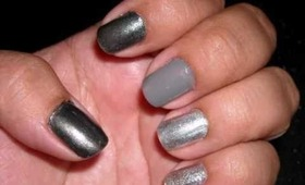 Tutorial - Obmre Nails Using Silver, Gray & Pewters