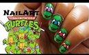 Teenage Mutant Ninja Turtles Nailart tutorial | Handpainted
