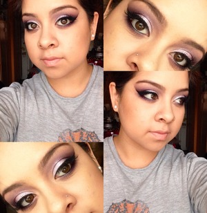 Used the holiday mac pigments to create this look. There's two purple pigments and I only used those.