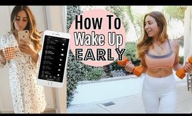 HOW TO WAKE UP EARLY//my power morning routine
