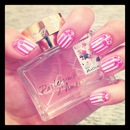 My favorite fragrance and stripe&rose nails !