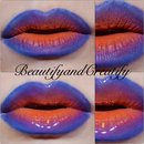 Purple orange ombre