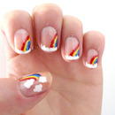 Nail art // rainbows