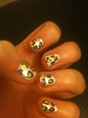 Cute leaped print nails xocxoc