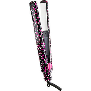 Zoe Pink and White Dots 1 in. Flat Iron