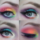 Neon Birthday Make up