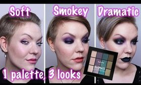 Review + looks: NYX Smoke Screen Multi Finish palette