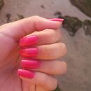 uñas rosa perfecto<3