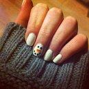 Snow man nail art
