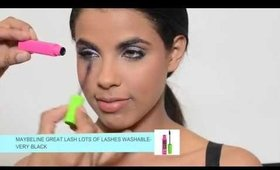 Summer Makeup Trends- Colorful Look using Maybelline