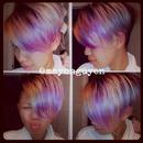 4am color pink and purple peekaboo