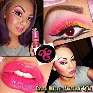 Those is one of new looks featuring Glama Girl Cosmetics. I hope Ll you beauties like it!!!!