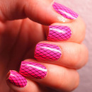 Incoco pink fishnet strips
