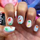 Dinosaur Pattern in Fall Pantone Colors - Nail Decals