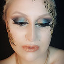 Gold and Turquoise Makeup Look