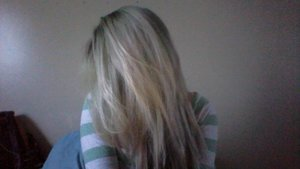 Sorry for the low quality webcam picture, someone asked about my current hair color.  Current hair color = faded minty green + winter white :)