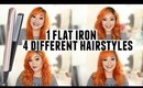 1 Flat Iron 4 Different Hairstyles ft. LumaBella Keratin Dual Touch Styler