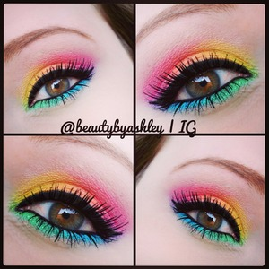 Check out this bright, colorful makeup look and more on Instagram @beautybyashley! :)