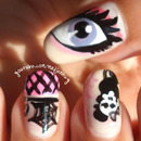 Monster High Nail Art ★ Draculaura Inspired