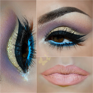 instagram @auroramakeup FB: https://www.facebook.com/AuroraAmorPorElMaquillaje  Hola bellas, acabo de terminar este maquillaje de primavera . Hello dears, I just finished this makeup for spring season   DETAILS /DETALLES  BROWS :  Dip Brow Pomade in EBONY by Anastasia Beverly Hills CEJAS : Dip Brow Pomade en color EBONY de Anastasia Beverly Hills   EYES: Eye shadow base by Motives by Loren Ridinger Pressed Eye Shadow in BLIZZARD by @motivescosmetics on brow bone Eye Shadow in HAZE into SMOKE SCREEN palette by Sigma Beauty on the crease  Luxe Creme Eye Shadow in GOLD DUST by @motivescosmetics on mobile eyelid Gel eyeliner in BLACK by MicaBeauty Glitter Sprikles in HONEY DROP by Eye Kandy Cosmetics stick it with Liquid Sugar on mobile eyelid Paint Pot Mineral Eye Shadow in MARSHMALLOW by @motivescosmetics on inner corner Eyeliner in INDIGOBIRD by @sigmabeauty lining below lower lashes Eyeliner in MY CLOUD by @sigmabeauty into waterline  OJOS: Prebase de sombras de Motives Cosmetics Sombra blanca mate BLIZZARD de Motives Cosmetics en el hueso de la ceja Sombra malva mae HAZE de la paleta SMOKE SCREEN de Sigma Beauty en el pliegue del ojo Sombra en crema GOLD DUST de Motives Cosmetics en el parpado movil Gel delineador negro BLACK de la marca MICABELLA COSMETICS para delinear las pestanas superiores . Brillos dorados en tono HONEY DROP de Eye Kandy Cosmetics y use el mismo pegamento de la marca llamado LIQUID SUGAR , para el parpado mobile Pigmento mineral en color blanco MARSHMALLOW de Motives Cosmetics Delineador de ojos azul intenso INDIGOBIRD de Sigma Beauty delineando las pestanas inferiores por fuera Delineador de ojos azul claro MY CLOUD de sigma Beauty delineando la linea del agua interna  LASHES:  SHOW STOPPER by @doseofcolors Lala mineral volumizing & Lengthening mascara in BLACK by @motivescosmetics  PESTANAS: SHOP STOPPER de la marca DOSE OF COLORS Mascara de LaLa Volumizante y Alargadora en color negro BLACK de Motives Cosmetics  LIPS: Lip Crayon in NAKED b