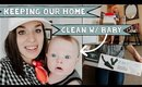 Our Daily Cleaning Routine 2018 (Husband & Wife w/ Baby)