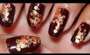 Easy Embellished Fall Nails!!!