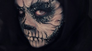 Side view of my skull makeup.  Nothing much else to say here lol  Tutorial: http://www.youtube.com/watch?v=TYKPhhQGgxs&feature=c4-overview&list=UU4_I3wwF9lv_q3nCeEdPXaw