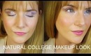 NATURAL COLLEGE MAKEUP LOOK! | TheInsideOutBeauty.com by Heidi