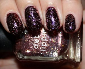 See more swatches & my review of both polishes here: http://www.swatchandlearn.com/deborah-lippmann-some-enchanted-evening-swatches-review-layered-over-china-glaze-prey-tell/