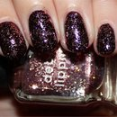 Deborah Lippmann Some Enchanted Evening (Layered Over China Glaze Prey Tell)