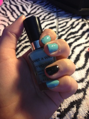 """Wet and wild baby blue nail polish in """"I need a refresh- mint"""""""