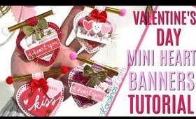 Valentines Day Embellishments Heart Banner Tutorial, DAY 1 of 14 Days of Crafty Valentines Day