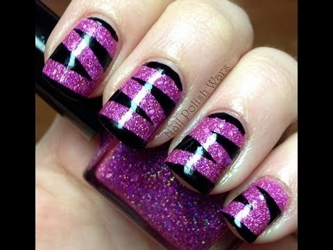 animal print nail art design video  long short nails