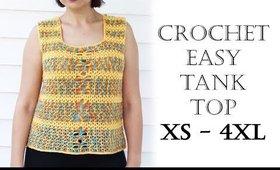 Easy Crochet Tank Top XS-4XL