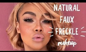 GLOWY NATURA FAUX FRECKLE SUMMER MAKEUP | SONJDRADELUXE